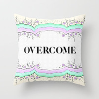 Overcome Throw Pillow by gabi press