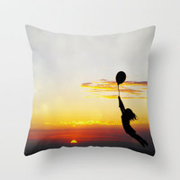 Hold Tight Throw Pillow by Skye Zambrana