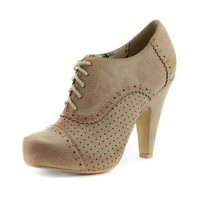 Womens Not Rated Pazazz Heel, Cream  Journeys Shoes