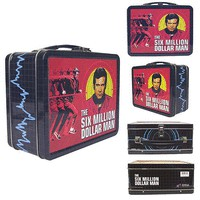 The Six Million Dollar Man Tin Tote - Bif Bang Pow! - Six Million Dollar Man - Lunch Boxes at Entertainment Earth
