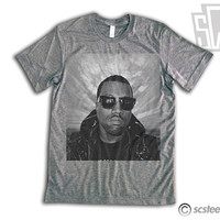 Kanye West Shirt - Triblend Gray - Limited Print Yeezy Jay Z Drake Lil Wayne Hip Hop Top Clothing Item: 001