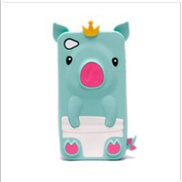 Cute Pig Animal Silicone Case for iPhone 4/4S - Turquoise:Amazon:Cell Phones &amp; Accessories