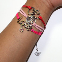 love tree heart bracelet color multilayer bracelet summer trending simple fashion friendship graduation gifts