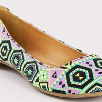 Qupid Tessa-200 Tribal Print Flats:Amazon:Shoes