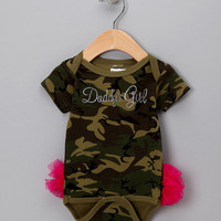 Camo 'Daddy's Girl' TuTushie Bodysuit - Infant
