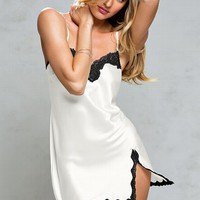 The Angel Lace-Trim Satin Slip