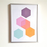 Print Set Geometric Print Series Minimalist Wall Art Series