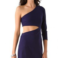Starry Cutout dress blue