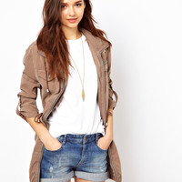 River Island Relaxed Zip Through Parka