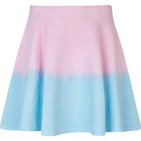 Girls pink dip dye skater skirt