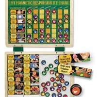 Melissa &amp; Doug Deluxe Magnetic Responsibility Chart.