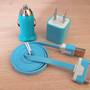 1m  USB Cord 1PCS USB Power Adapter Wall Charger 1Pcs Car Charger For Iphone 4/4s/5