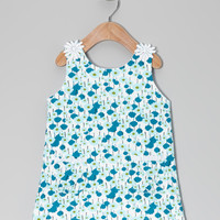 Blue & White Haydi Dress - Infant & Toddler