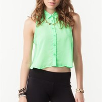 Chiffon Sleeveless Shirt