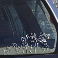 GAMAGO Zombie Family Car Sticker at PacSun.com