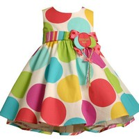Bonnie Baby Large Dots Birthday Dress with Headband:Amazon:Clothing