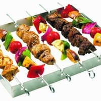 GrillPro 41338 Stainless Steel Shish Kebab Set:Amazon:Patio, Lawn &amp; Garden