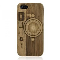 Hand Carved Camera Walnut iPhone 5 Case -M9:Amazon:Cell Phones &amp; Accessories