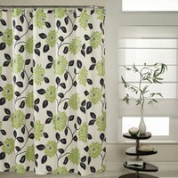 M. Style Fabulous Shower Curtain in Kiwi - MS7959-KIWI - Shower Curtains - Shower Curtains & Accessories - Bed & Bath