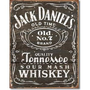 Jack Daniels Whiskey Tin Metal Sign