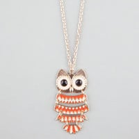 FULL TILT Owl Charm Necklace