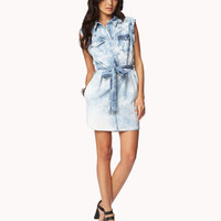 Life In Progres Bleach Chambray Shirt Dress | FOREVER 21 - 2041207035