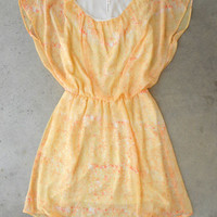 Tiny Brushstrokes Dress in Citrus [3927] - $36.00 : Vintage Inspired Clothing & Affordable Summer Frocks, deloom | Modern. Vintage. Crafted.