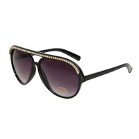 Rhinestone Plastic Aviator Sunglasses | Shop Accessories at Wet Seal