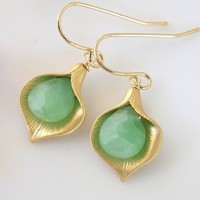 Calla Lilly Earrings | Bellissimo Jewelry