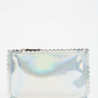 Deena & Ozzy Scalloped Oil Slick Zip-Pouch