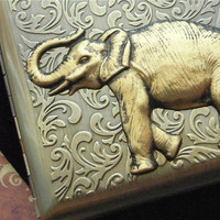 Elephant Cigarette Case Extra Big Antiqued Bronze by CosmicFirefly
