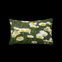 Daisy Patch Lumbar Pillow from Zazzle.com