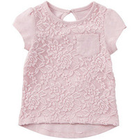 Mothercare Pale Pink Lace T-Shirt