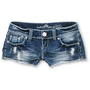 Almost Famous Holly Medium Blue Cut Off Shorts