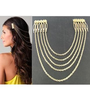 New Ladies Metal Chain Fringe Tassel Hair Comb Cuff Head Hairband