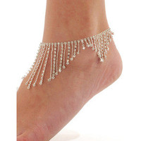 www — Diamond oranges foot chain