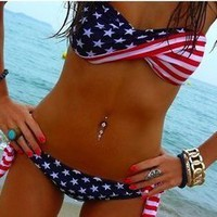 Romantic moments — Sexy Star and Stripe Bikini
