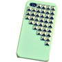 Fashion Punk Spikes and Studs Mobile Phone Case for iPhone 5 Cover with Green Pyramid Rivet:Amazon:Cell Phones & Accessories