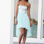 Sequin Hi-Lo Party Dress