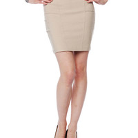 Papaya Clothing Online :: ZIPPERED BACK DRESSY SKIRTS