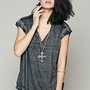 Free People Keep Me Tee