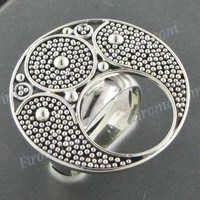 DESIGN BALI ART 925 STERLING SILVER SZ 8 ring