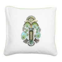 Belle Epoque Square Canvas Pillow> Throw Pillows> Janet Antepara Designs