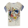 Floral Garden Two-sided Pattern Slim T-shirt