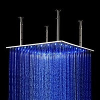 24 Inch Large Luxury Square Temperature 3 Color LED Water Saving Showerheads:Amazon:Home Improvement