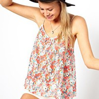 ASOS Swing Cami in Printed Lace at asos.com