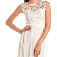 Delicate Lace A-Line Dress: Charlotte Russe