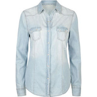 ALI &amp; KRIS Western Snap Womens Chambray Shirt 209410221 | Blouses &amp; Shirts | Tillys.com