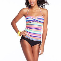 Candie's Striped Swim Separates