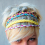 CUSTOM ORDER  Set of 4 hairband of braided cotton jersey Choose your colors